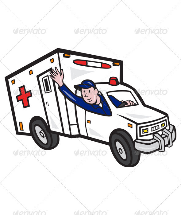 Ambulance Vehicle Emergency Medical Technician  - People Characters