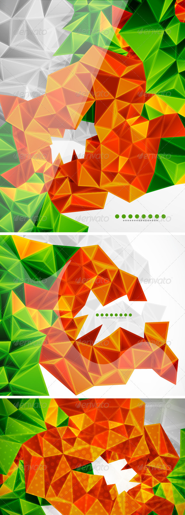Vector Mosaics Backgrounds - Backgrounds Decorative