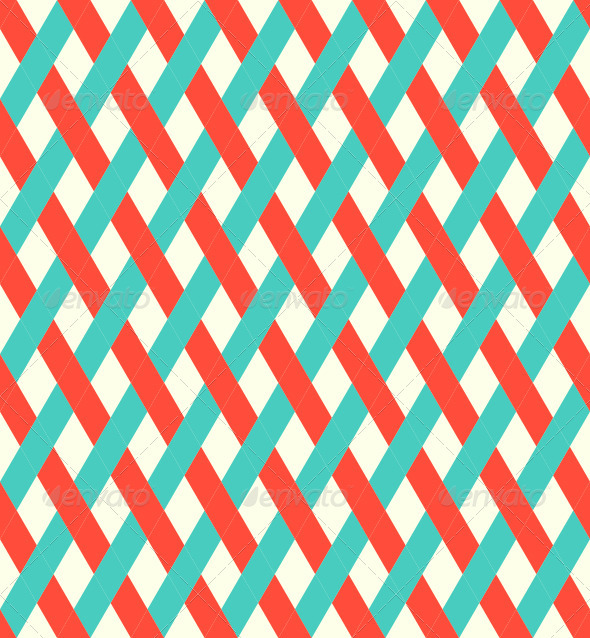 Retro Seamless Wicker Pattern - Patterns Decorative