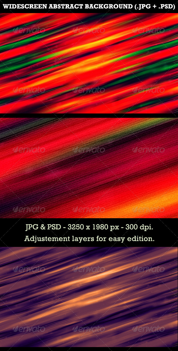 Widescreen Abstract Background - Abstract Backgrounds