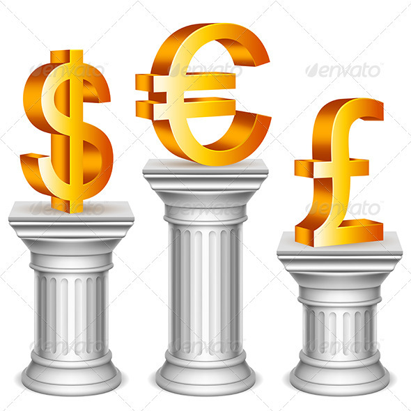 Currency Symbols on Sport Podium - Concepts Business
