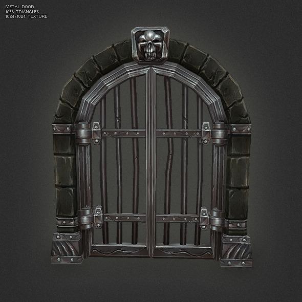 Low Poly Dungeon Door Set By Bitgem 3docean