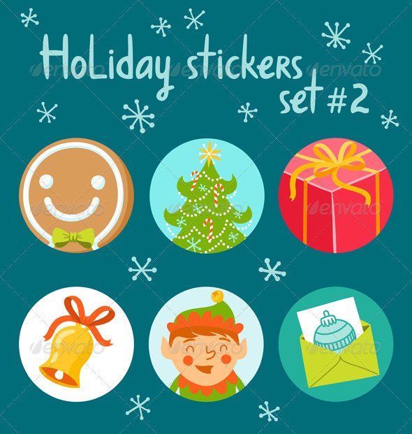 Holiday Stickers Set 2 - Seasons/Holidays Conceptual