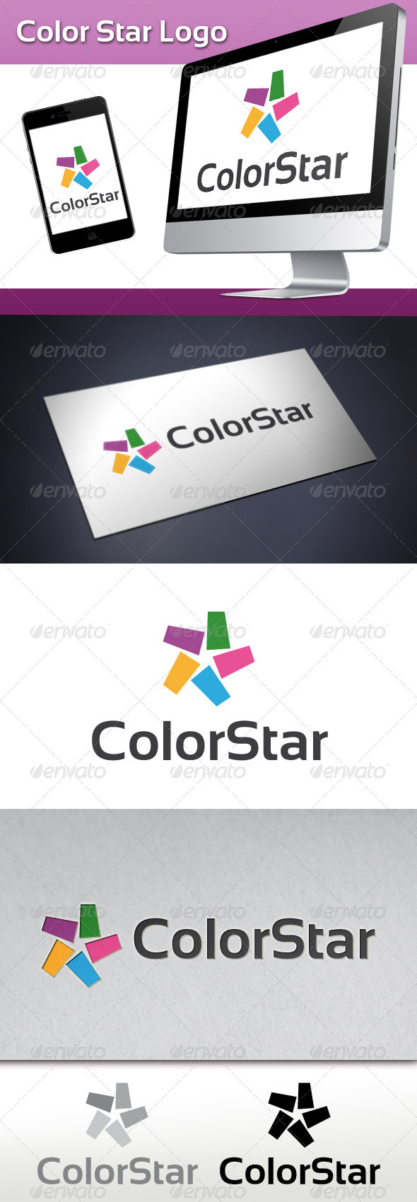 Color Star Logo - Abstract Logo Templates