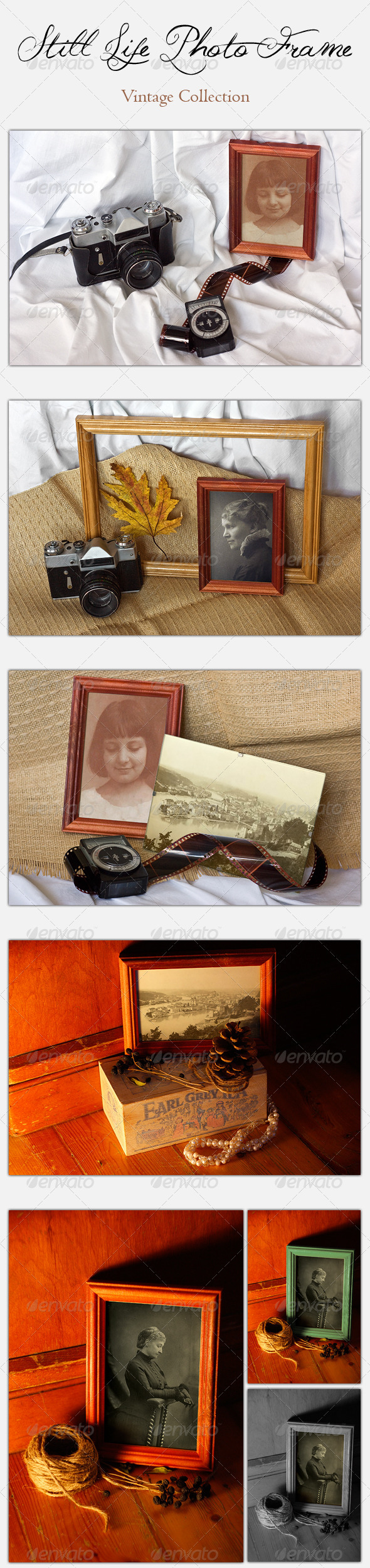 Still Life Photo Frame - Vintage Collection - Artistic Photo Templates