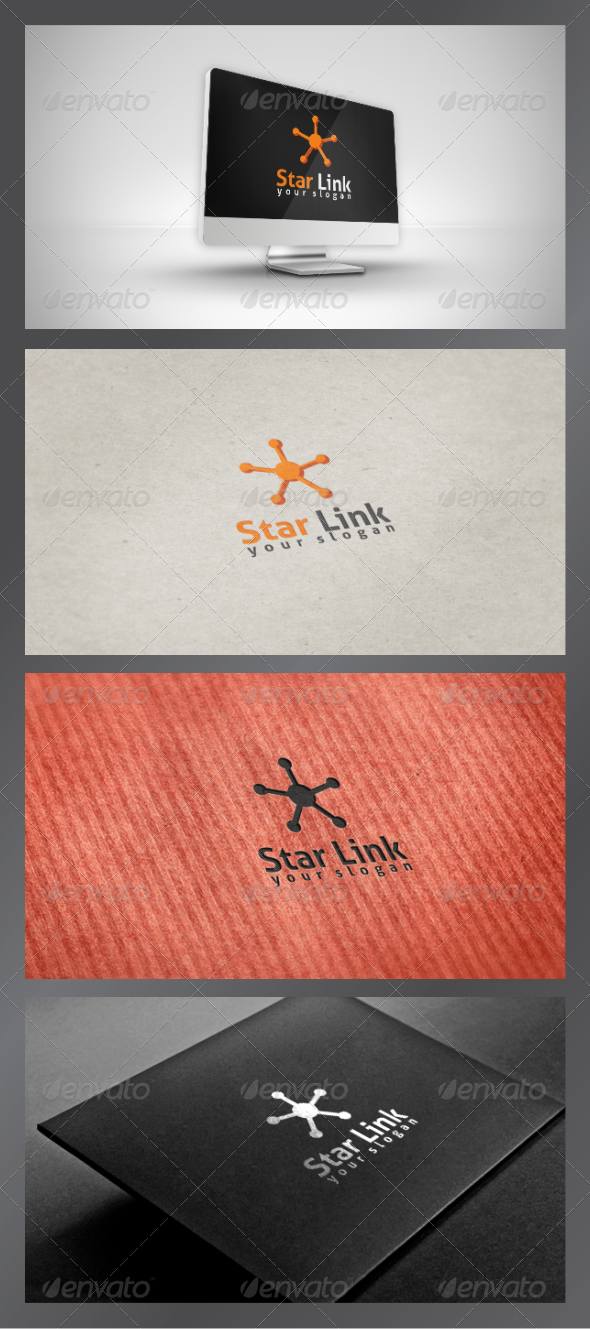 Star Link Logo Template