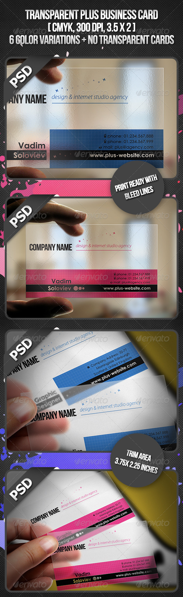 Transparent Plus Business Card - Creative Business Cards
