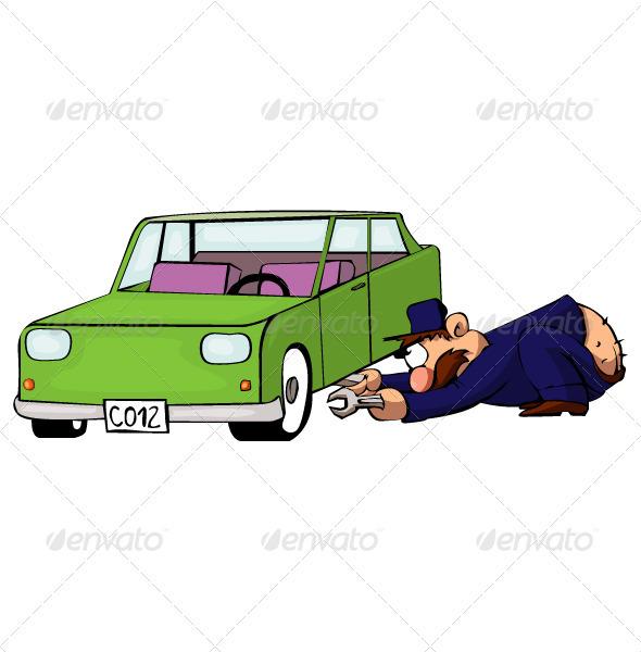 Auto Mechanic - Characters Vectors
