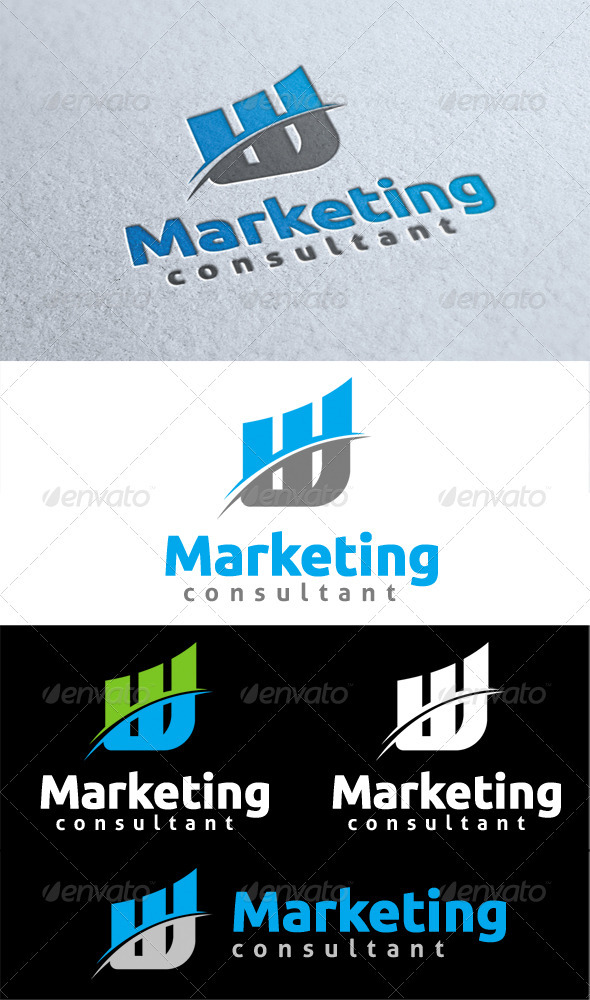 Marketing Consultant - Symbols Logo Templates