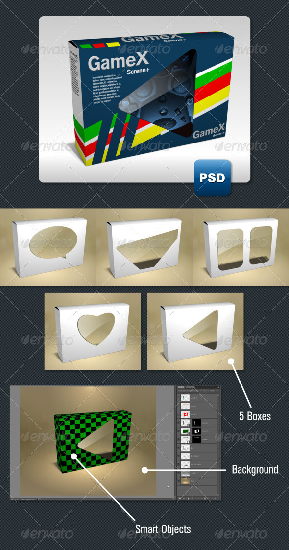 5 Product Packaging Mock-Ups - Miscellaneous Packaging