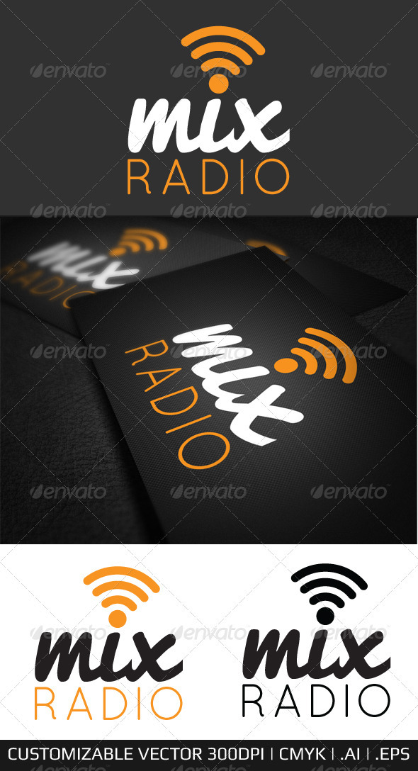 Mix Internet Radio Logo Template - Symbols Logo Templates