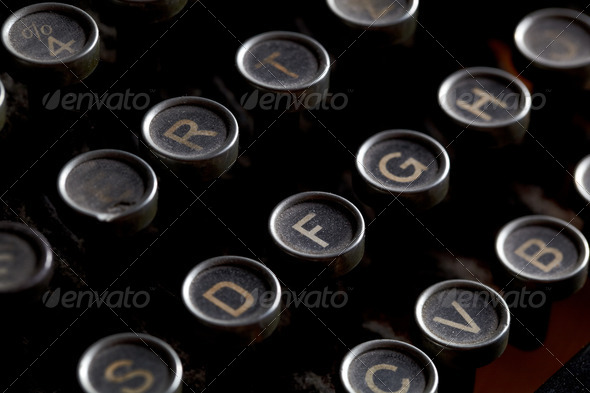 Antique typewriter keys - Stock Photo - Images