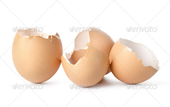 Empty eggs shell - Stock Photo - Images