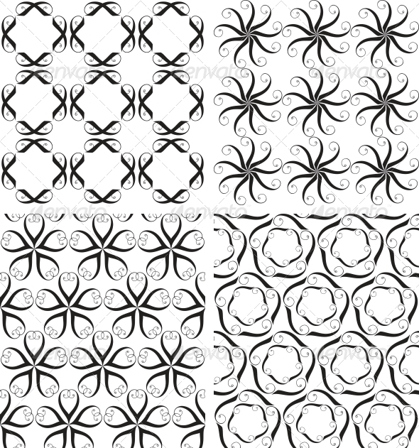 Four Seamless Patterns - Patterns Decorative