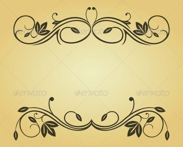 Vintage Frame - Flourishes / Swirls Decorative
