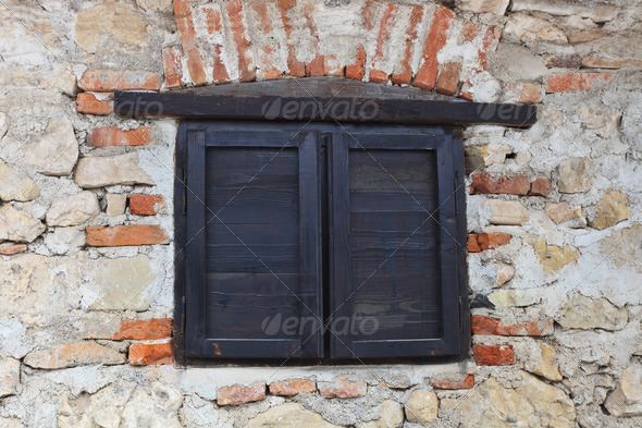medieval window  - Stock Photo - Images