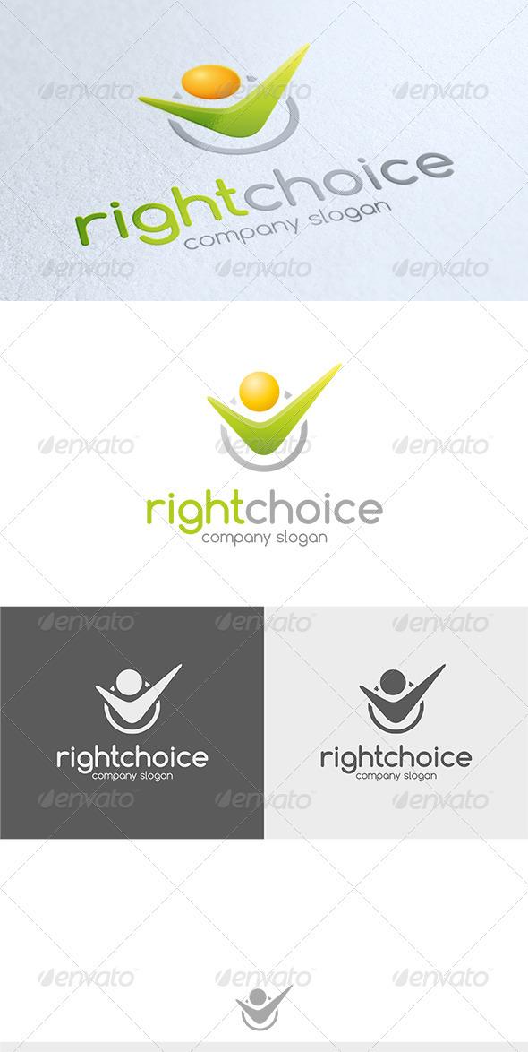 Right Choice Logo - Symbols Logo Templates