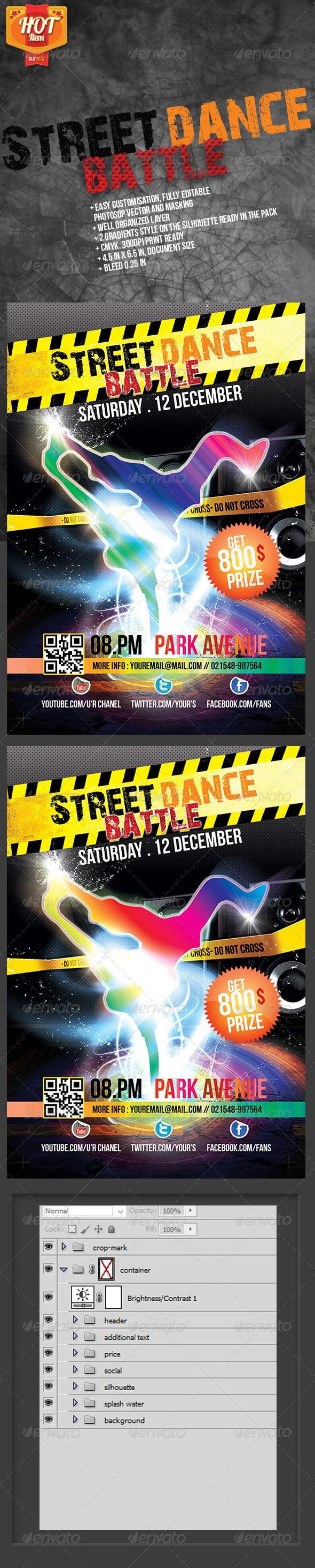 Street Dance Battle - Events Flyers