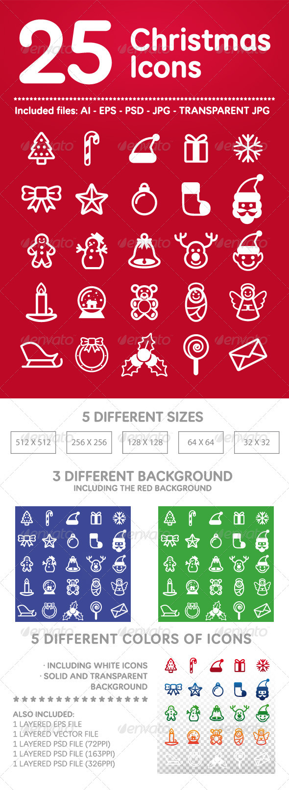 25 Christmas Icons - Seasonal Icons