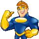 Superhero Mascot - Supermike Series 1/30