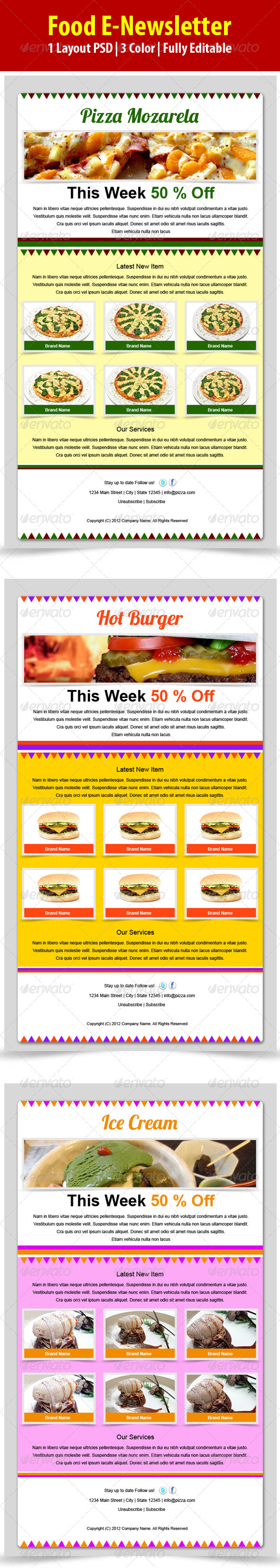 Food E-newsletter - E-newsletters Web Elements