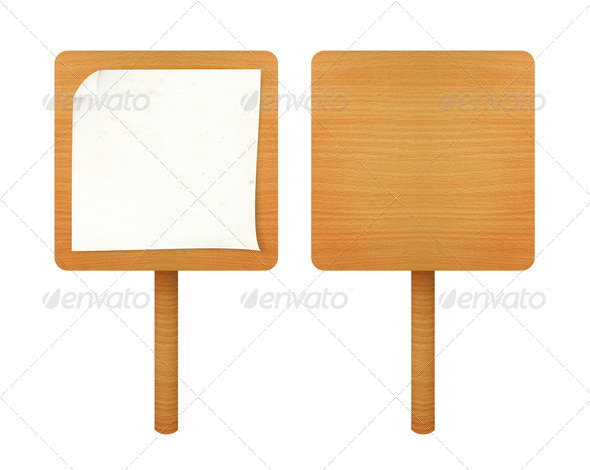 paper on wooden board - Stock Photo - Images