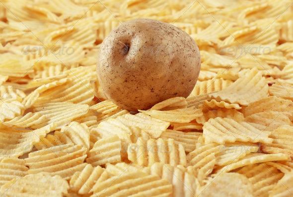 potato chips - Stock Photo - Images