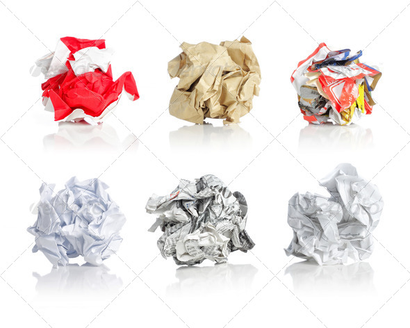 crumpled papers - Stock Photo - Images