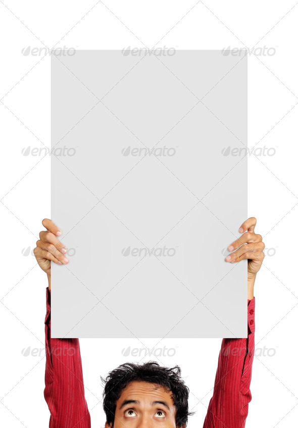 man with board - Stock Photo - Images
