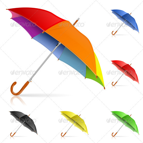 Set Umbrellas - Man-made Objects Objects
