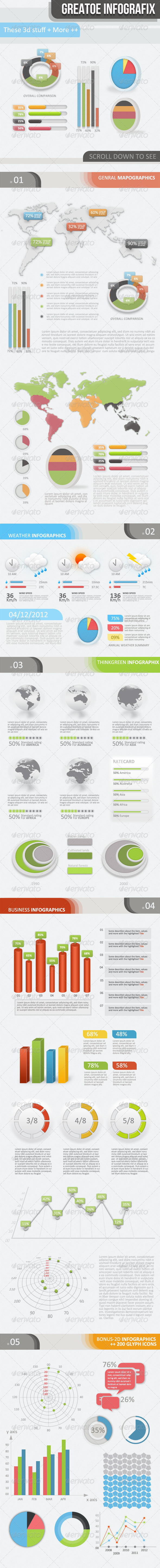 3D - 2D Infographic Elements Kit - Infographics