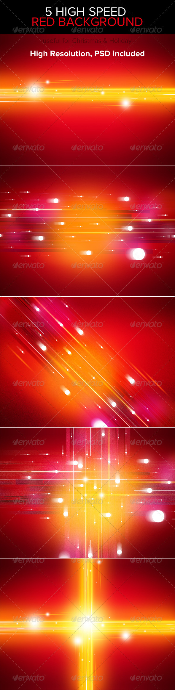 High Speed Red Backgrounds - Abstract Backgrounds