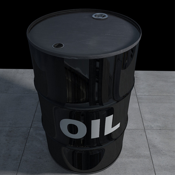 Realistic Oil Barrel with Textures and UV Maps - 3DOcean Item for Sale