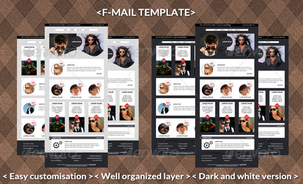 F-mail Template - E-newsletters Web Elements