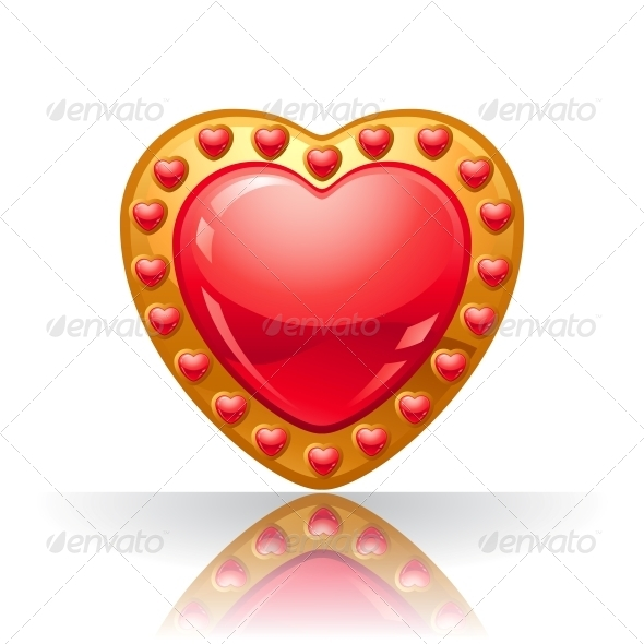 Glossy Big Red Jewellery Heart  - Valentines Seasons/Holidays