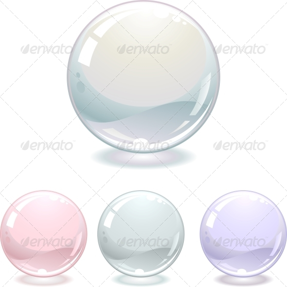 Pearls Collection Isolated on White - Web Elements Vectors