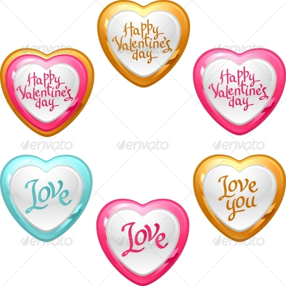 Collection of Icons with Hearts - Valentines Seasons/Holidays