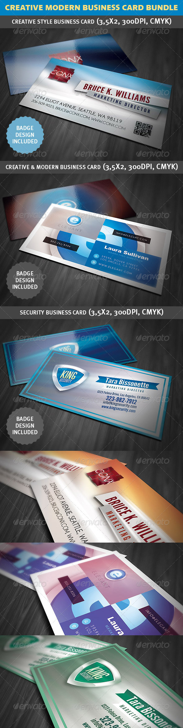 Creative Modern Business Card Bundle - Creative Business Cards