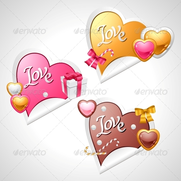 Valentine's Day Vector Stickers  - Valentines Seasons/Holidays
