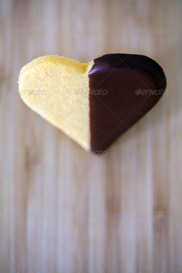 Heart shaped chocolate cookies - Stock Photo - Images