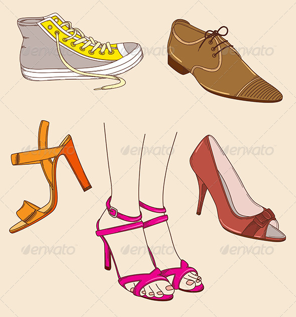 Shoes and Legs - Man-made Objects Objects