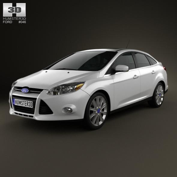 Ford Focus Sedan Titanium 2012 - 3DOcean Item for Sale