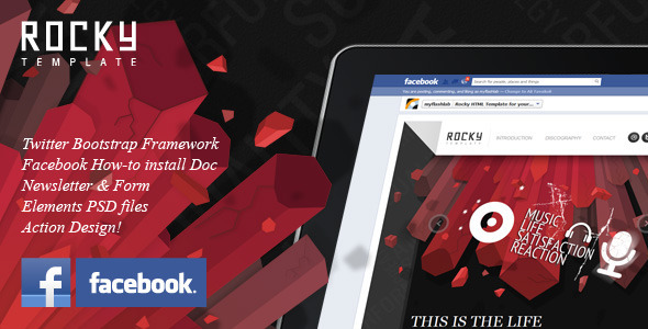 Rocky Facebook Fan Page Template