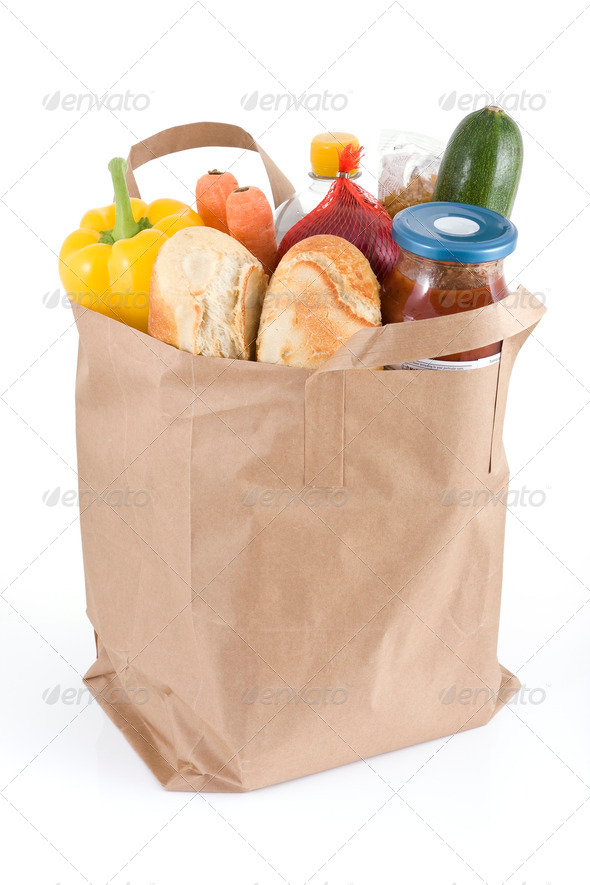 Bag of groceries - Stock Photo - Images