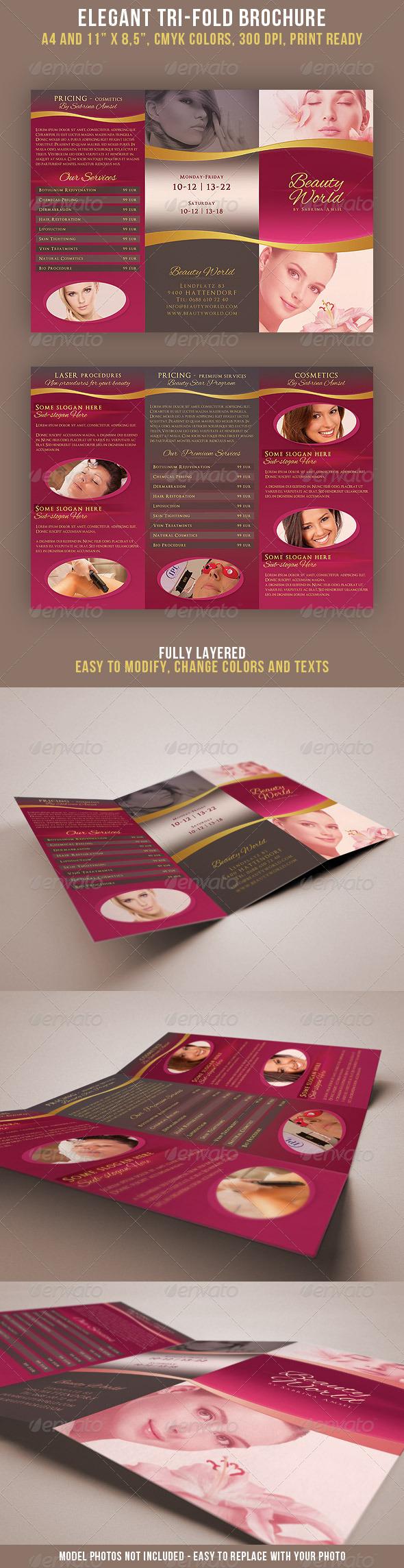 Elegant Tri-fold Brochure - Brochures Print Templates