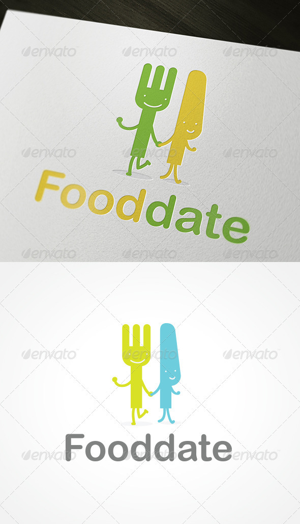 Fooddate Logo - Food Logo Templates
