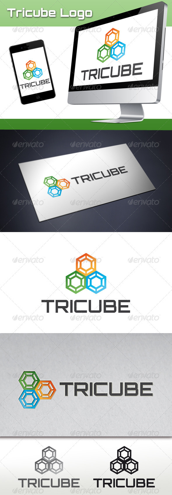 Tricube Software Logo - Abstract Logo Templates