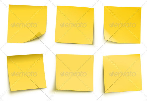 Yellow Sticky Notes  - Concepts Business
