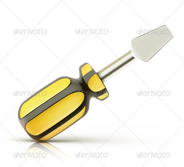 Screwdriver Icon - Man-made Objects Objects