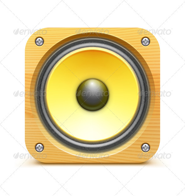 Sound Loud Speaker Icon - Retro Technology